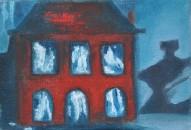 Steve Marriott / Dollhouse (2016) / Oil on Canvas / 5 x 3.5 inches